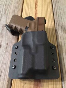 Custom Light Bearing Holster - OWB Contour High Guard