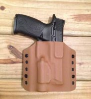 Custom Light Bearing Holster - OWB High Guard