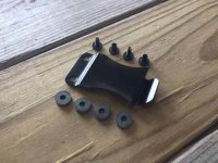 CKC CLIP System - STEEL Mounting Clip (And Hardware) - Black